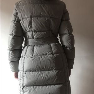 add Down Feather Belted Coat